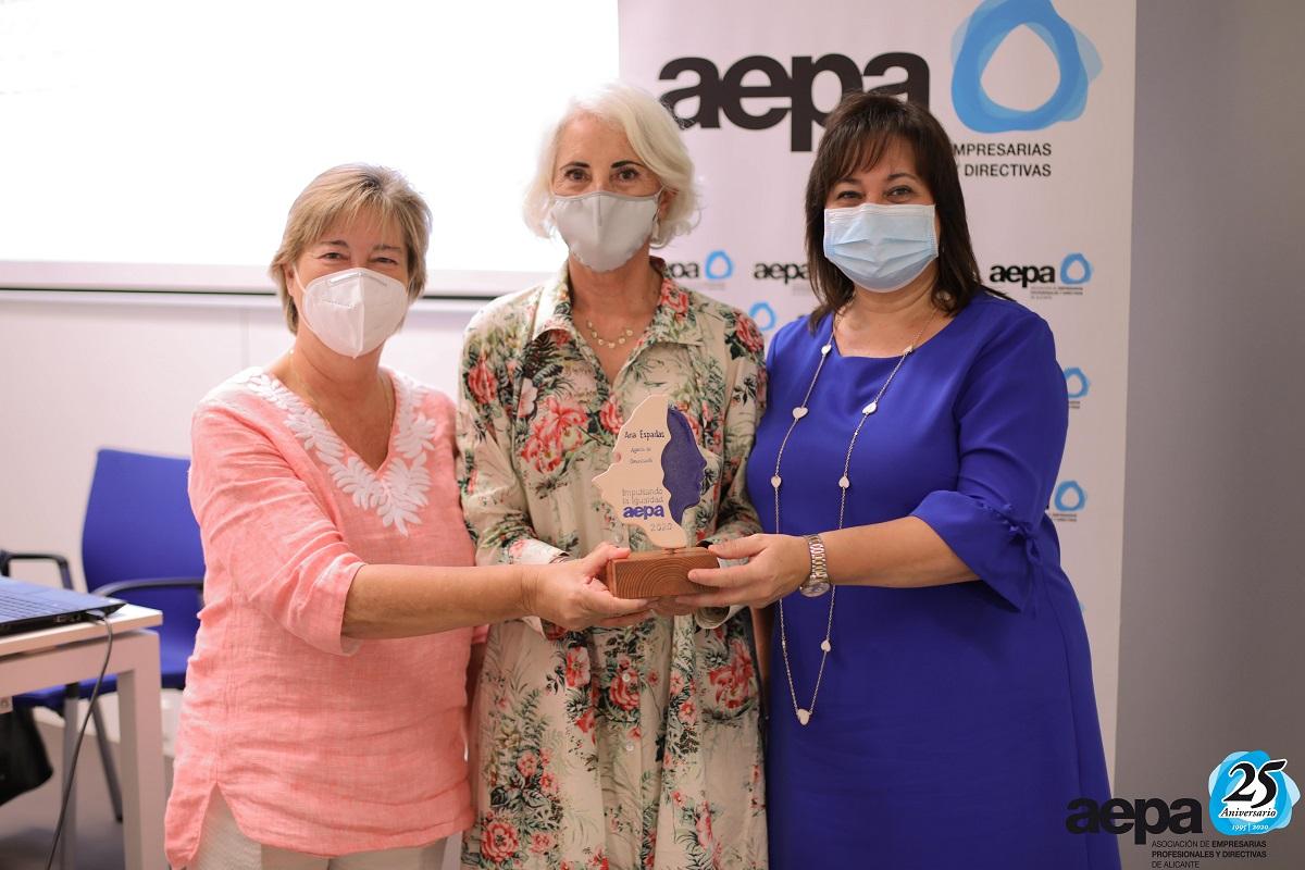 Sello de Igualdad AEPA Marcela Fernández Ana Espadas Carmen Jover
