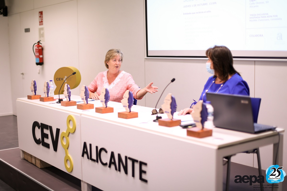 Sello de Igualdad AEPA ana espadas agencia 2020 marcela carmen