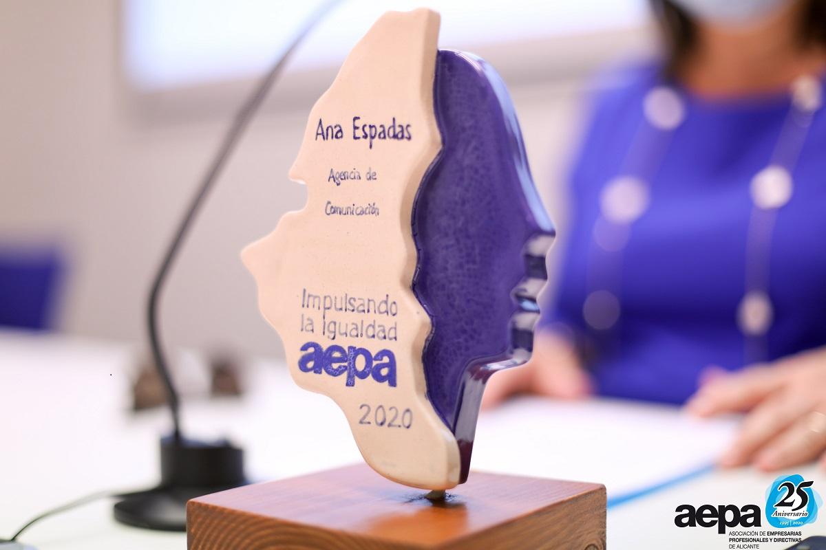 Sello de Igualdad AEPA ana espadas agencia matilde zamorano premio